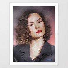Portrait of Daisy Art Print