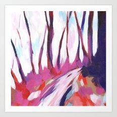 Mount Davidson - Pink Art Print