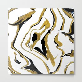 Gold And Black Opulence Metal Print