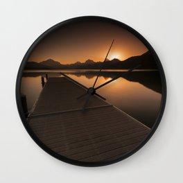 Lake McDonald Wake Up Call Wall Clock