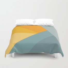 Abstract Mountain Sunrise Duvet Cover