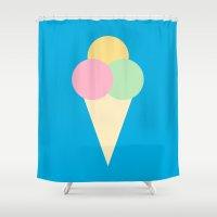 icecream Shower Curtains featuring #4 Icecream by MNML Thing
