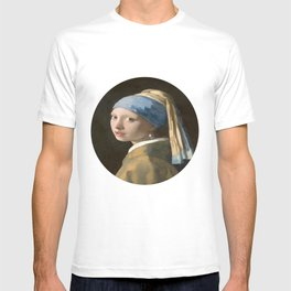 Girl with a Pearl Earring (1665), Old Masters Collection T-shirt