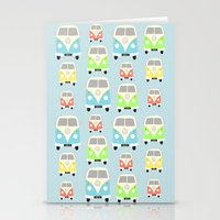 vans Stationery Cards featuring Camper Vans by Laura Maria Designs
