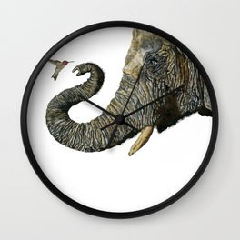 Elephant Cyril And Hummingbird Ayre 2 Wall Clock