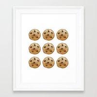 emoji Framed Art Prints featuring COOKIE EMOJI by FaniS