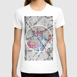 Crossroads No.3 - black and white T-shirt