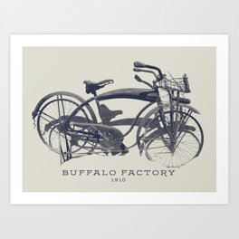 BUFFALO FACTORY Vintage Bicycle Art Print