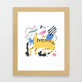 Tiger in the Jungle Framed Art Print