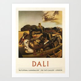 dali the tate gallery autumnal vintage Poster Art Print
