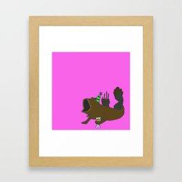 Mudskipper drinking an IPA Framed Art Print
