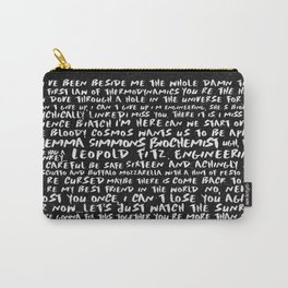 FitzSimmons Phrases in Black & White/2 Carry-All Pouch