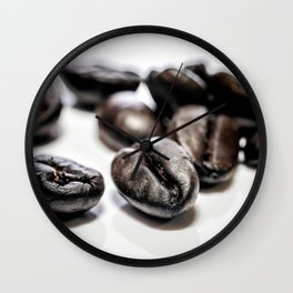 French roast coffee beans Wall Clock