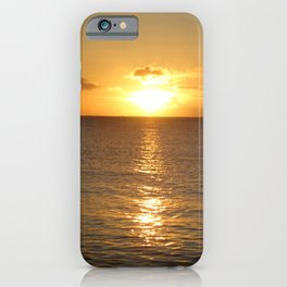 St Lucian Sunset At Sea iPhone Case