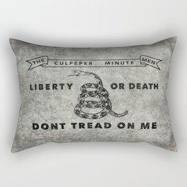 Culpeper Minutemen flag, Worn distressed version Rectangular Pillow