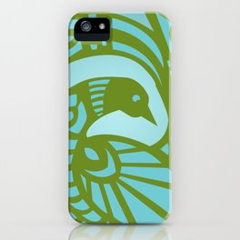 Marion Bird — Bluegreen iPhone Case