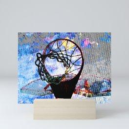 Basketball art spotlight vs 7 Mini Art Print