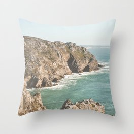 Ocean Coast Line 3 Throw Pillow