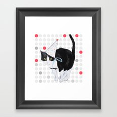 HAPPY BIRTHDAY CAT Framed Art Print