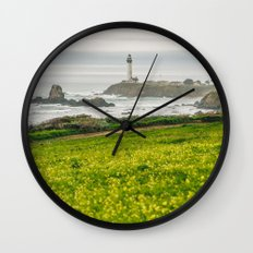 The lighthouse of highway 101 Wall Clock