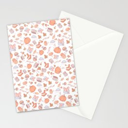 Autumn- Fall pattern Stationery Cards