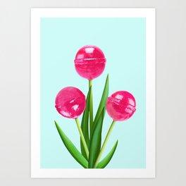 LOLLIPOP TULIPS Art Print