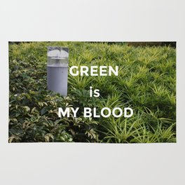 Green is my Blood Rug