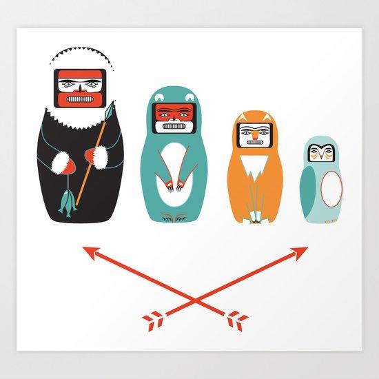 Haida Nesting Dolls Art Print