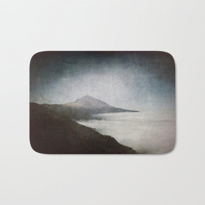 Mount Teide and dust- Mountains Spain Landscape Wanderlust- #Sociey6 Bath Mat