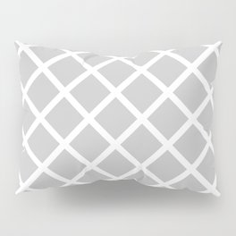 Criss-Cross (White & Gray Pattern) Pillow Sham