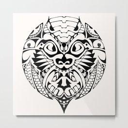 Maori Ornament Metal Print