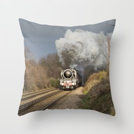 En Route To The Station Throw Pillow