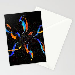 Efenissium - space dolphins Stationery Cards