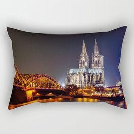 Cologne Cathedral at night Rectangular Pillow