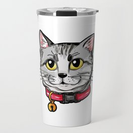 American Shorthair Cat Face Cats Kitty Love Gift Travel Mug