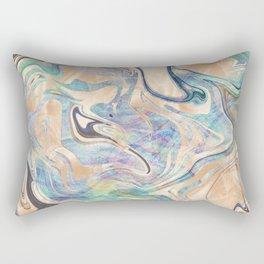 Liquid Bronze Mermaid Sea Marble Rectangular Pillow