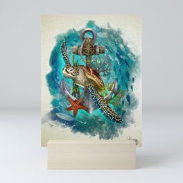 Turtle and Sea Mini Art Print