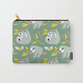 Sloth pattern in green Carry-All Pouch