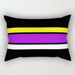Team Colors 2 ...yellow , purple black background Rectangular Pillow