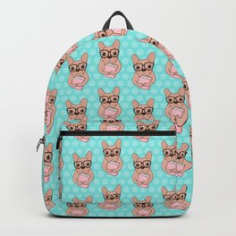 She is a Nerdy Sweet French Bulldog Who Love Books & Reading Backpack