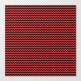 Small Donated Kidney Pink and Black Halloween Chevron Zig Zag Stripes Canvas Print