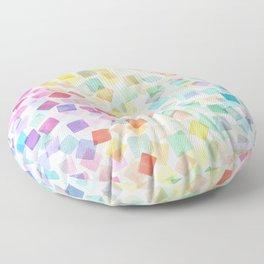 Party plaids geometry rainbow Floor Pillow