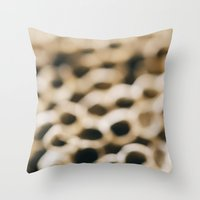honeycomb Throw Pillows featuring Honeycomb by Laura Ruth