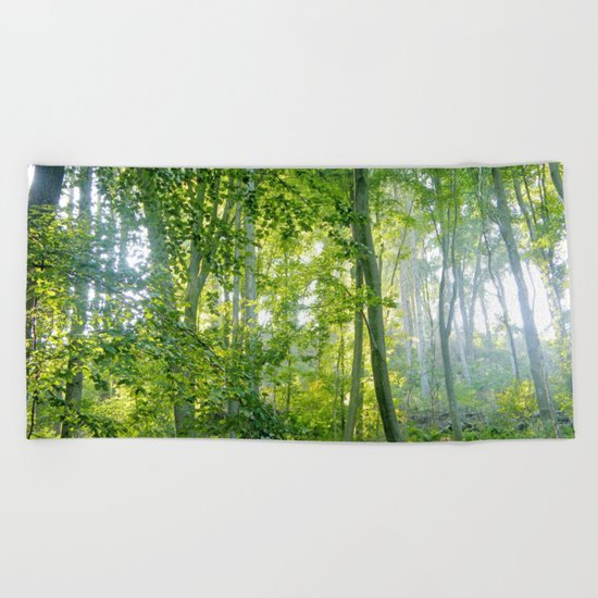 MM - Sunny forest Beach Towel