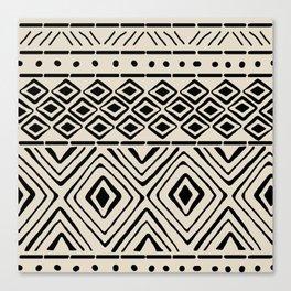 African Mud Cloth // Bone Canvas Print