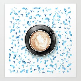 Coffee Patterns Art Print