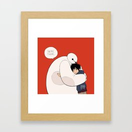 there, there hug Framed Art Print