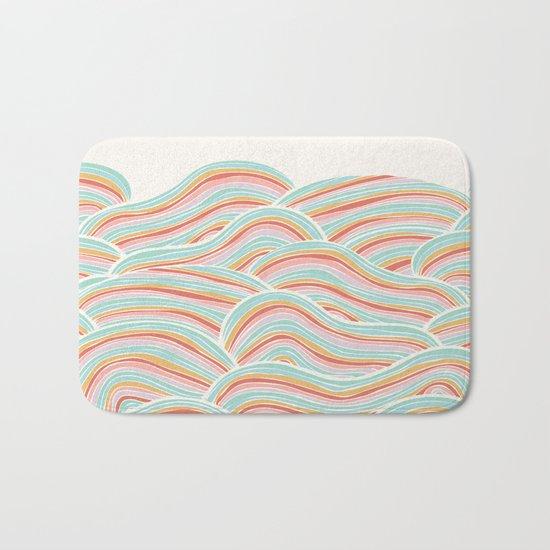 Summer Sea Waves Bath Mat