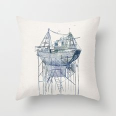 Dry Dock II Throw Pillow
