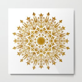 Royal Crown Mandala Metal Print